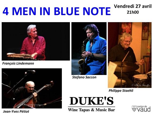 Concert 4 Men in Blues Note du 27 avril 2018
