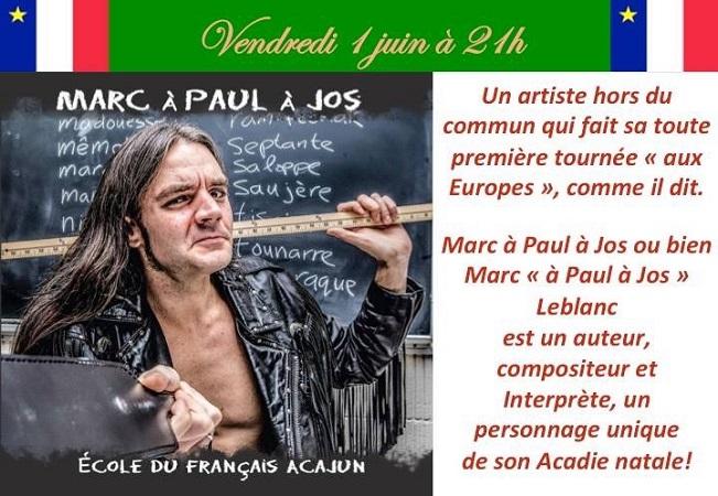 Concert Marc à Paul à Jos du 1er juin 2018